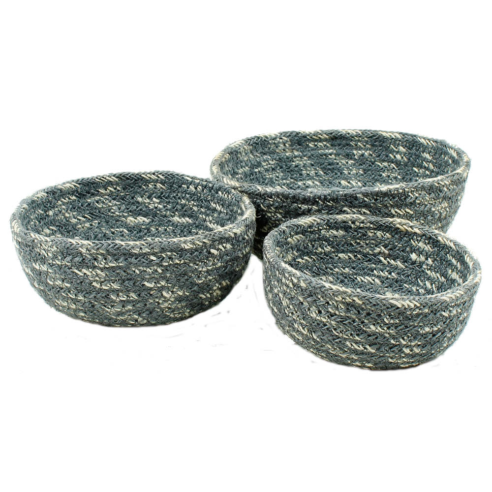 Corbeilles set jute gris bleu 02