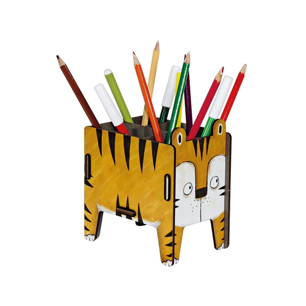 Pot crayons tigre 02
